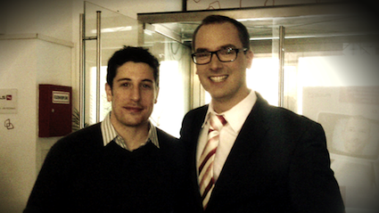 Jason Biggs meeting Carsten-Pieter Zimmermann
