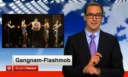 Psy Gangnam style in PULS 4 AustriaNews