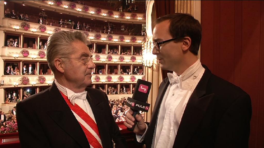 President Heinz Fischer at Viennese Opera Ball