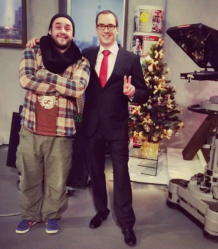 Christmas 2013 - Carsten-Pieter in the TV studio with his DP